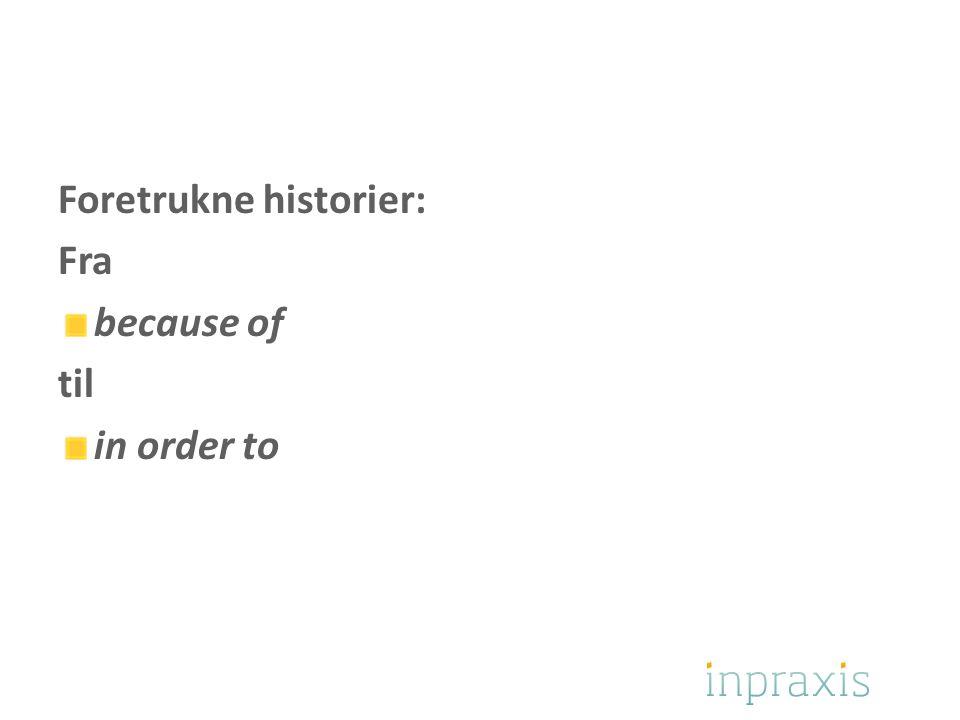 Foretrukne historier: