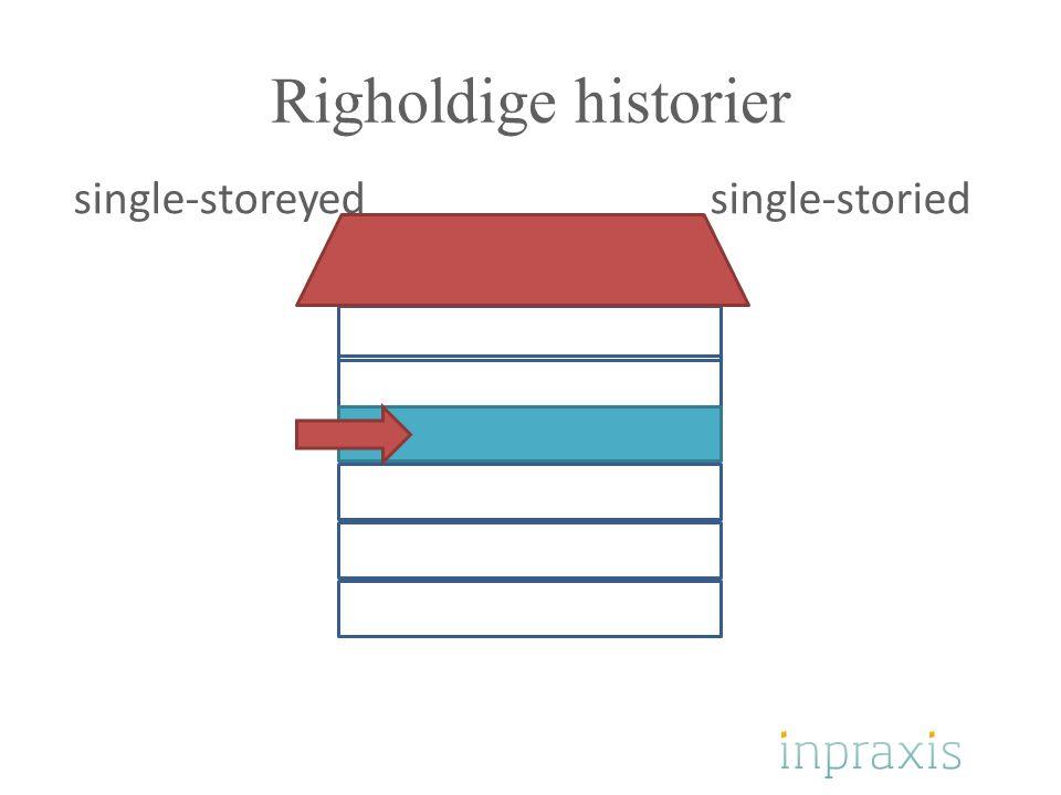 Righoldige historier single-storeyed single-storied
