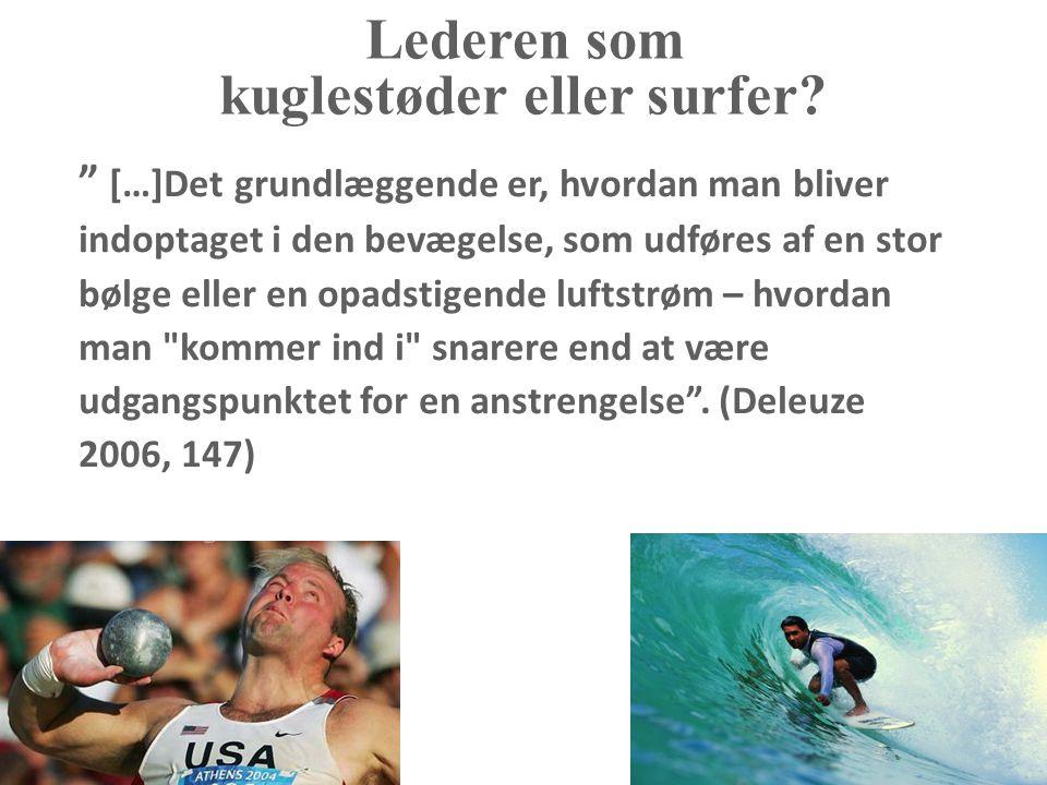 kuglestøder eller surfer