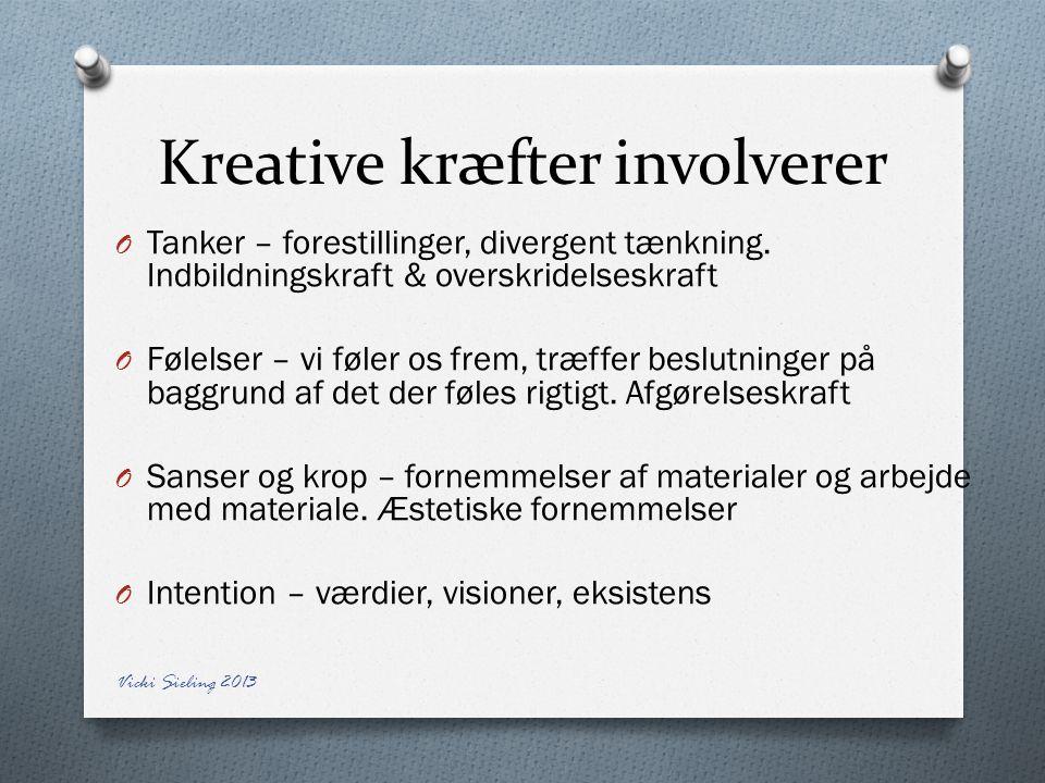 Kreative kræfter involverer
