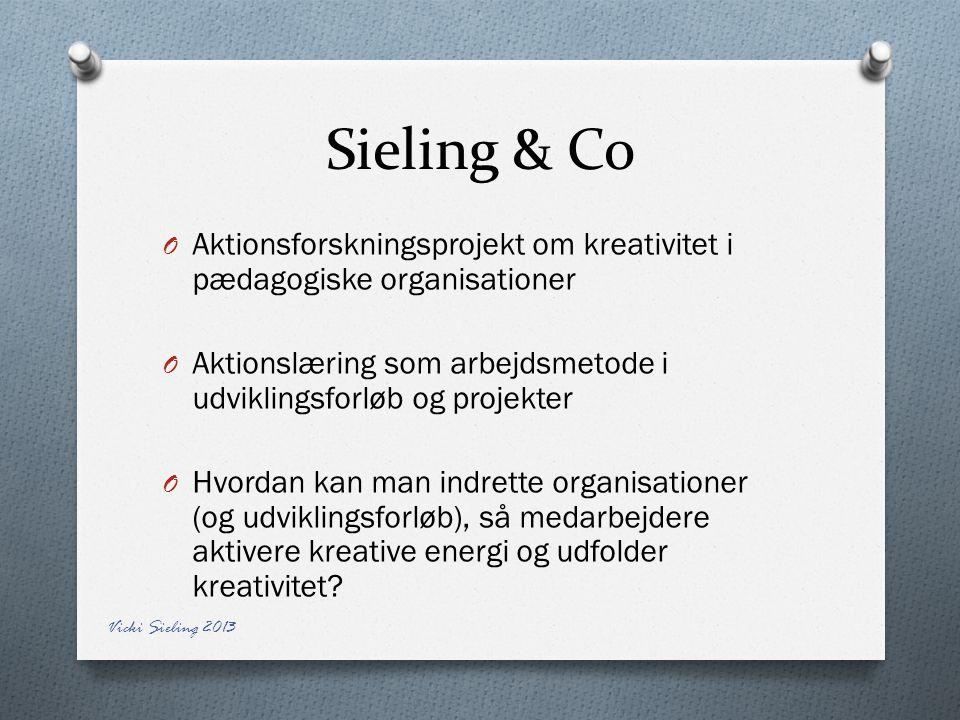 Sieling & Co Aktionsforskningsprojekt om kreativitet i pædagogiske organisationer. Aktionslæring som arbejdsmetode i udviklingsforløb og projekter.