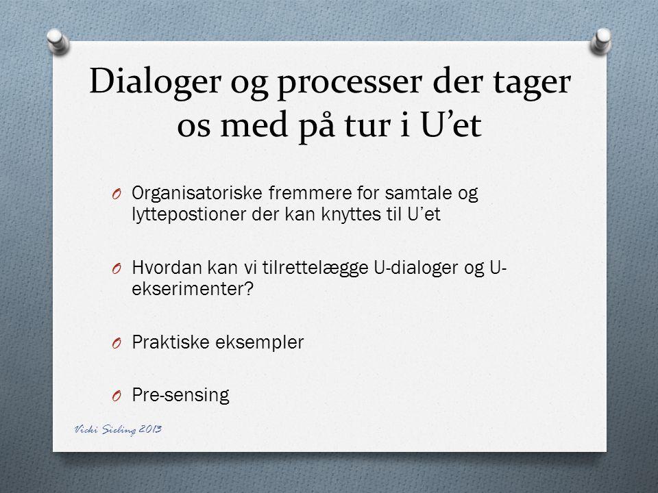 Dialoger og processer der tager os med på tur i U'et