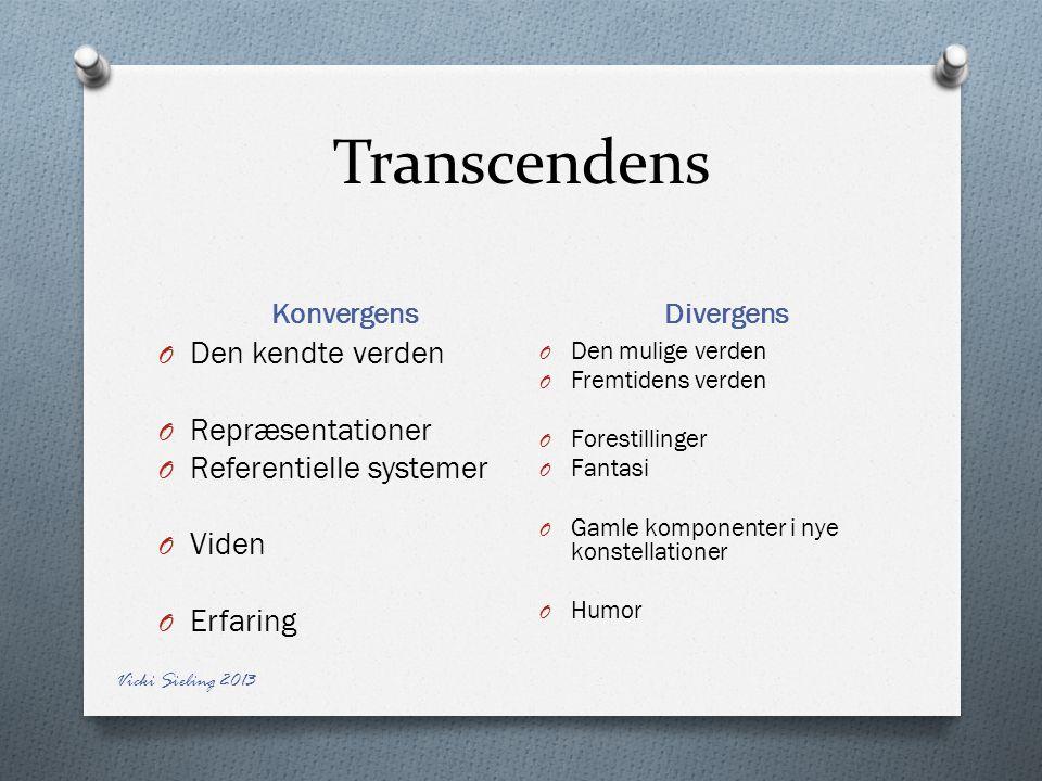 Transcendens Den kendte verden Repræsentationer Referentielle systemer