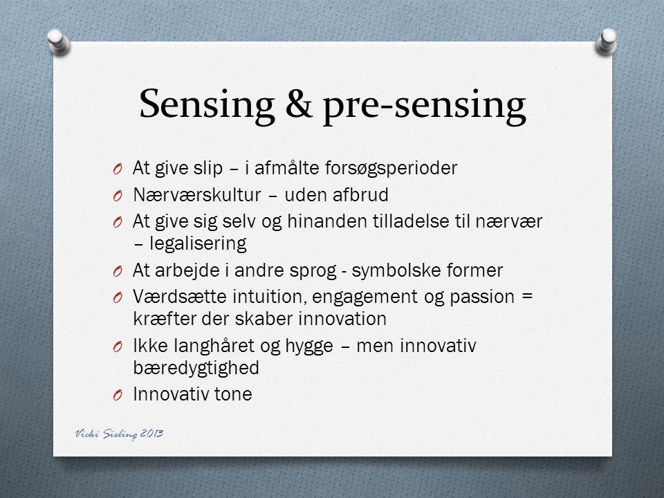 Sensing & pre-sensing At give slip – i afmålte forsøgsperioder
