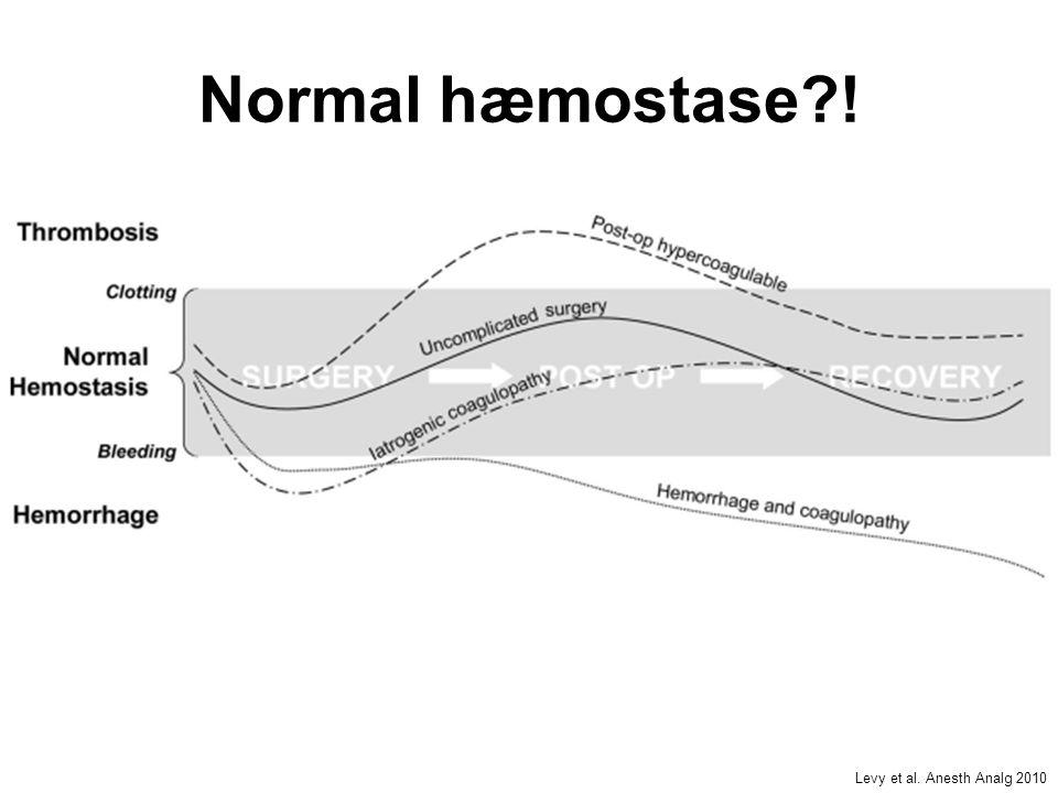 Normal hæmostase ! Levy et al. Anesth Analg 2010