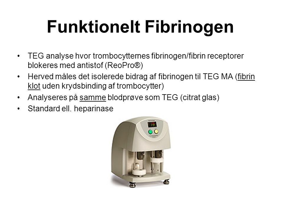 Funktionelt Fibrinogen