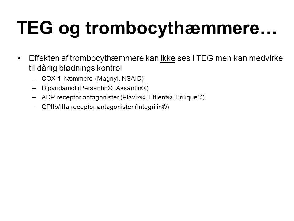 TEG og trombocythæmmere…