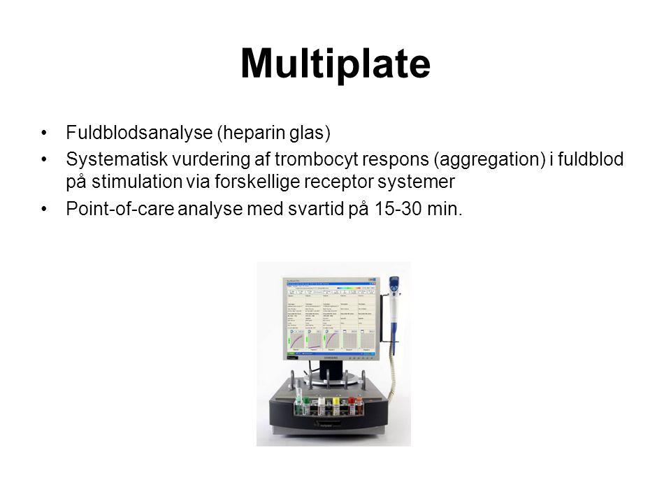 Multiplate Fuldblodsanalyse (heparin glas)