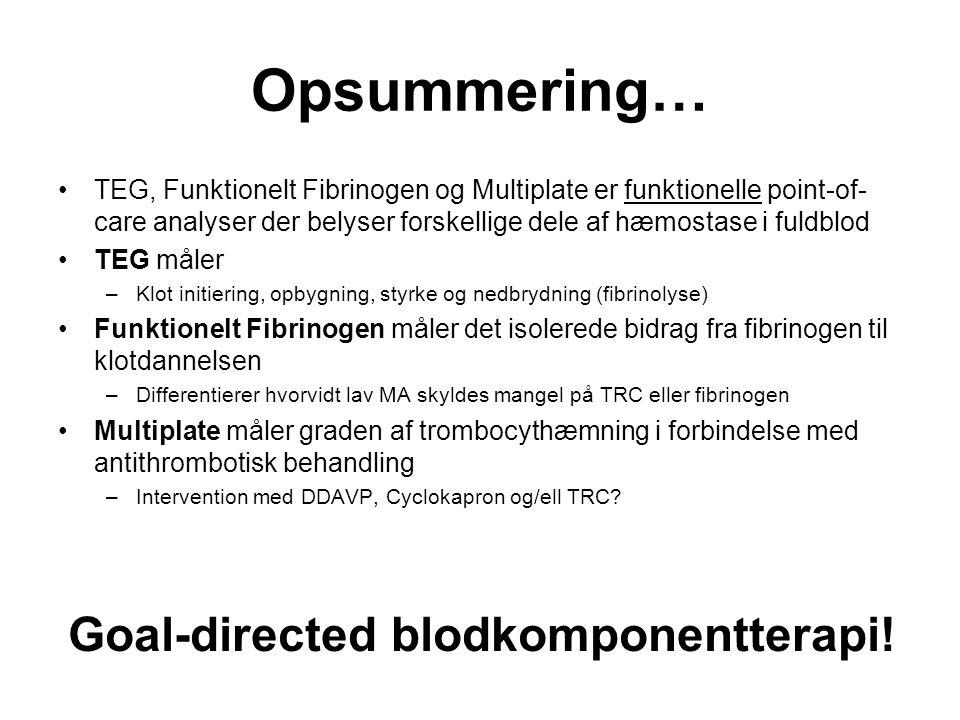 Goal-directed blodkomponentterapi!
