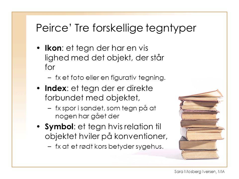 Peirce' Tre forskellige tegntyper