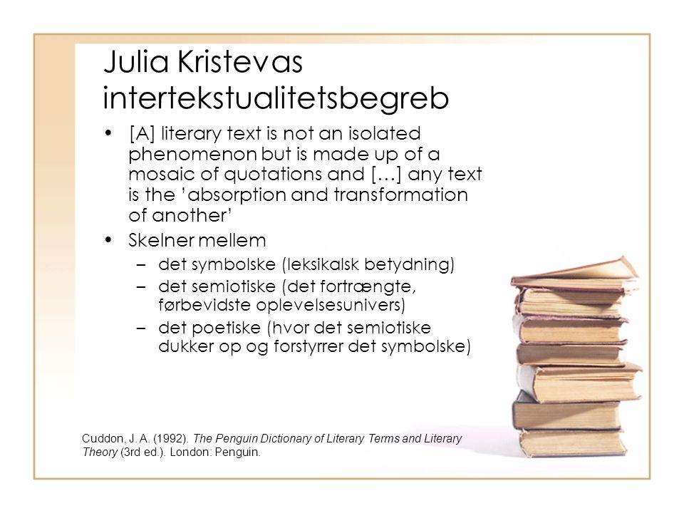 Julia Kristevas intertekstualitetsbegreb