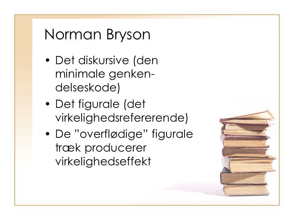 Norman Bryson Det diskursive (den minimale genken-delseskode)