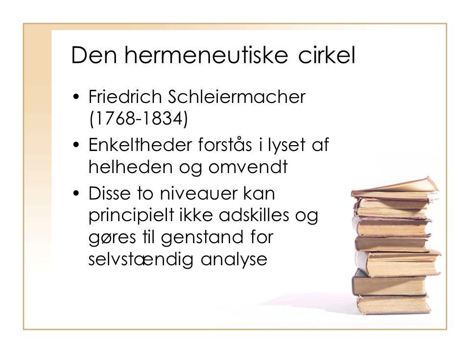 Den hermeneutiske cirkel
