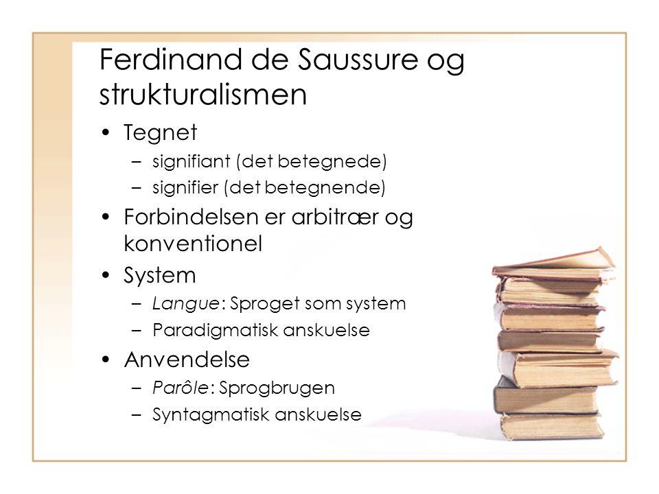 Ferdinand de Saussure og strukturalismen