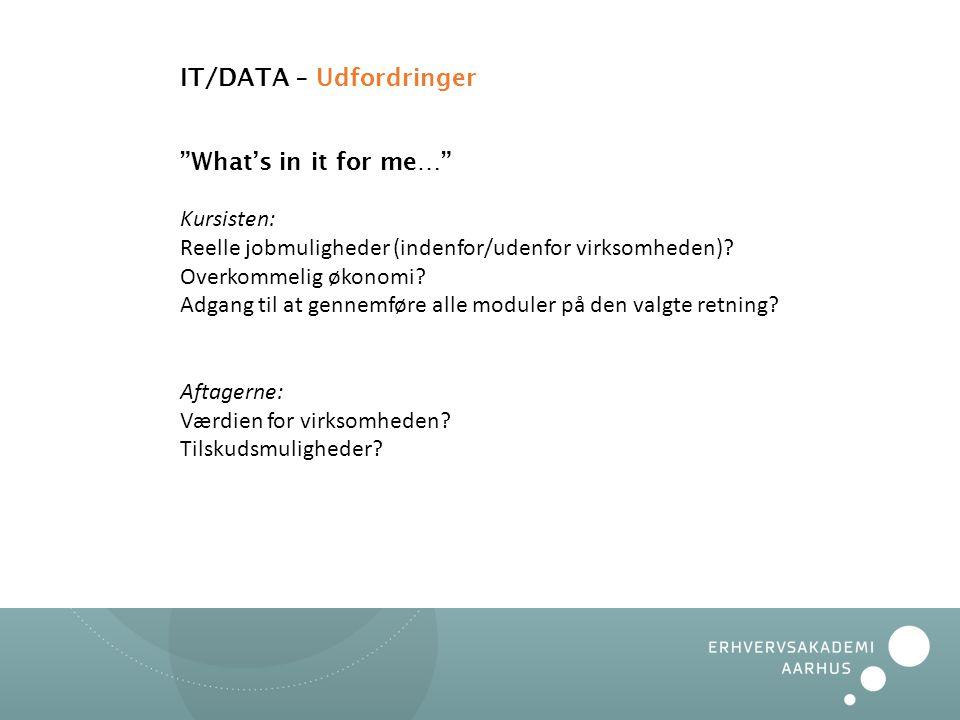 IT/DATA – Udfordringer