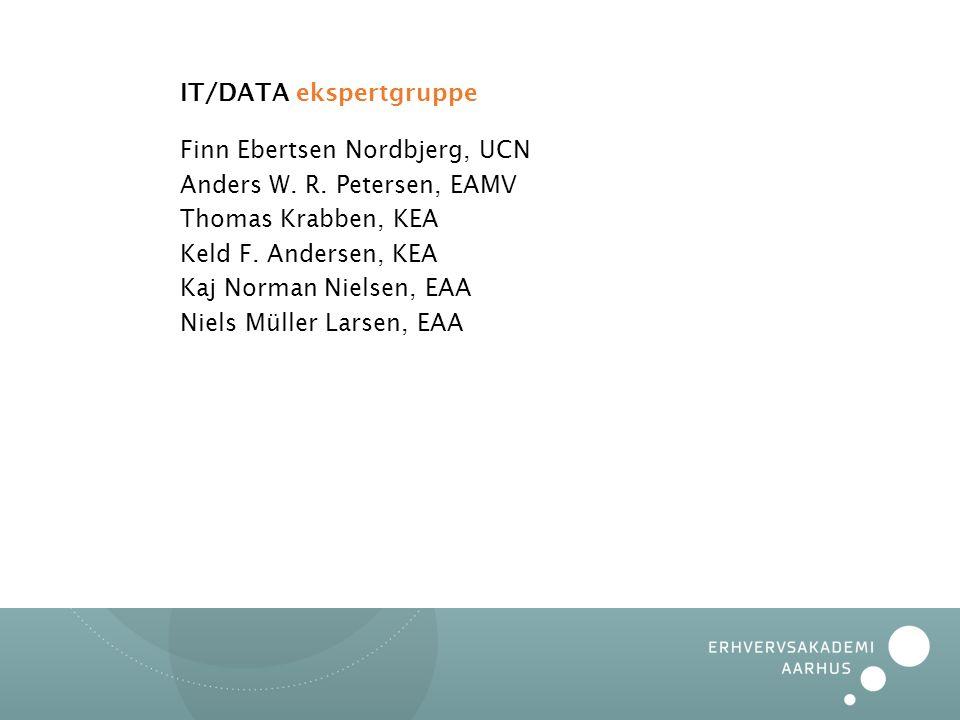 IT/DATA ekspertgruppe Finn Ebertsen Nordbjerg, UCN