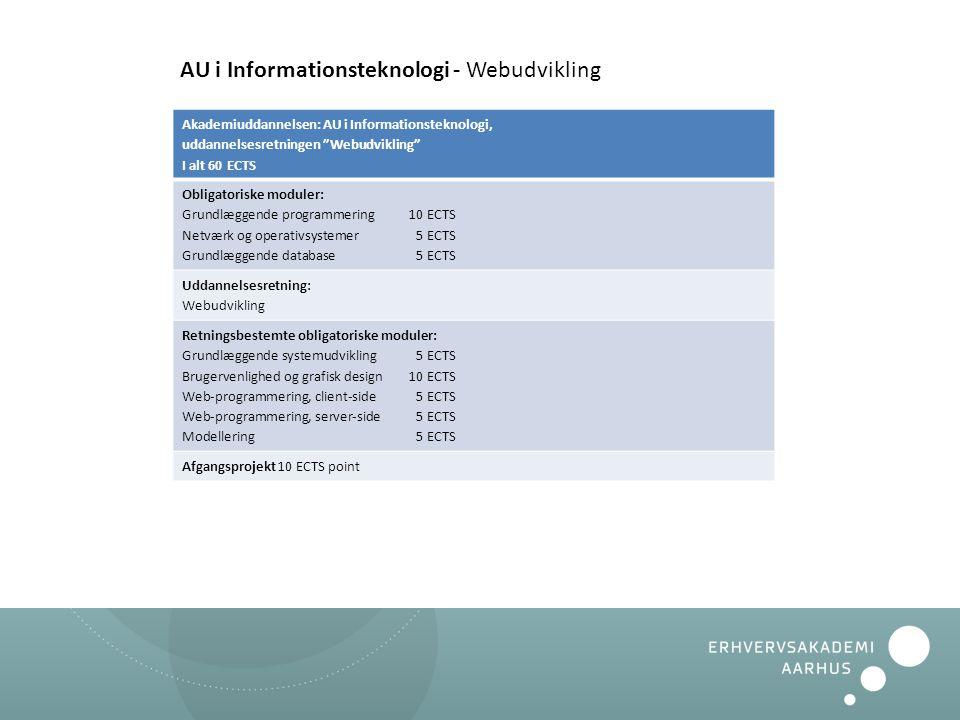 AU i Informationsteknologi - Webudvikling