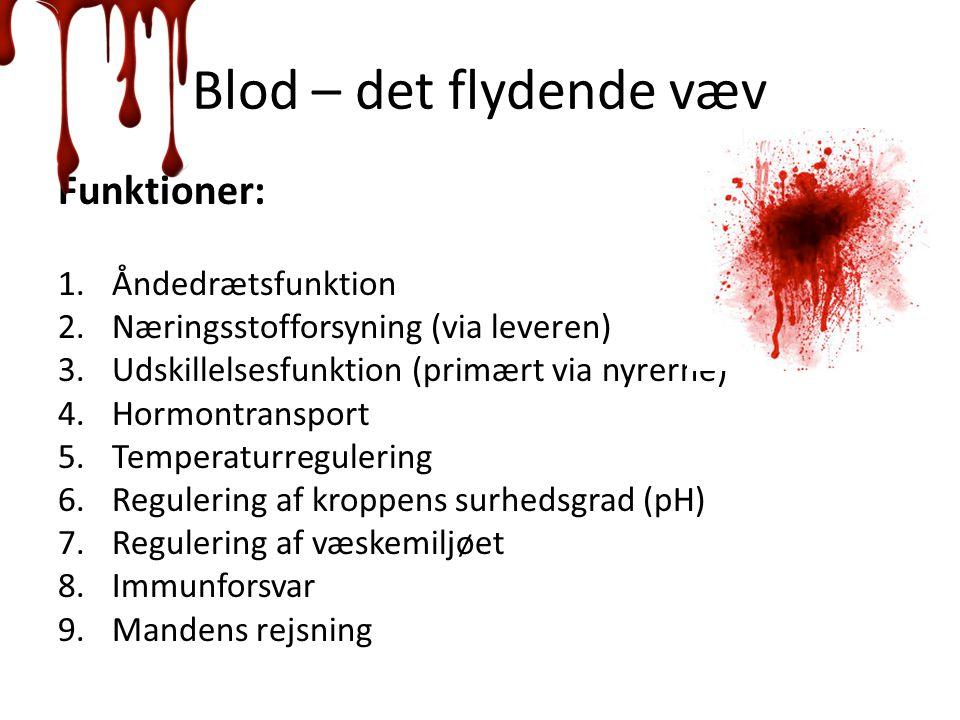 Blod – det flydende væv Funktioner: Åndedrætsfunktion