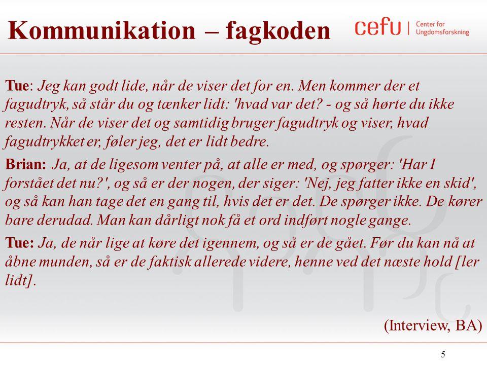 Kommunikation – fagkoden