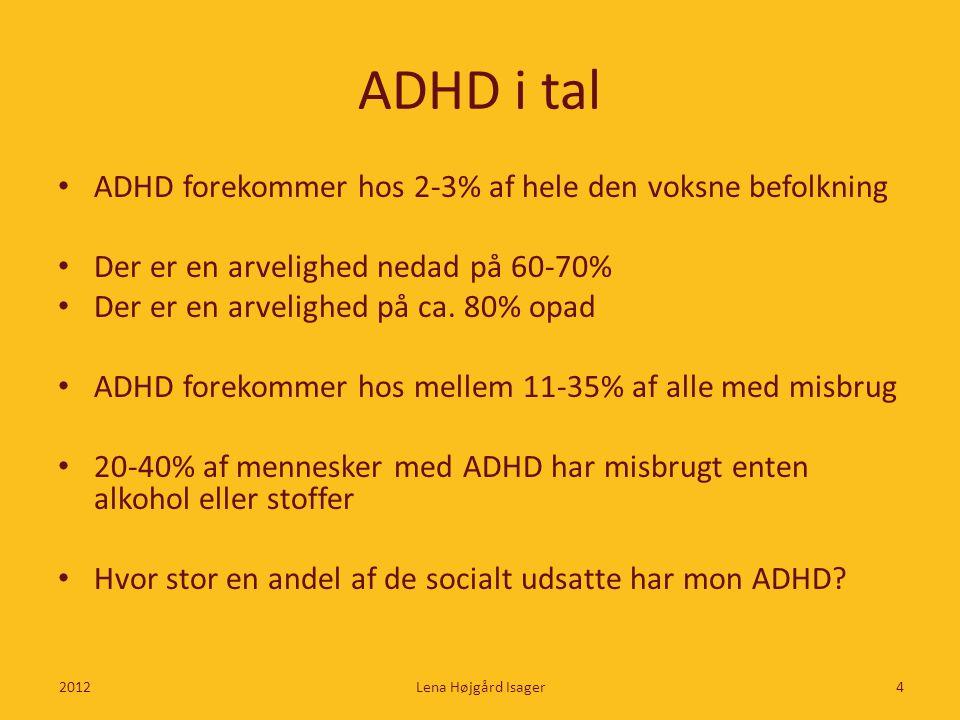 ADHD i tal ADHD forekommer hos 2-3% af hele den voksne befolkning