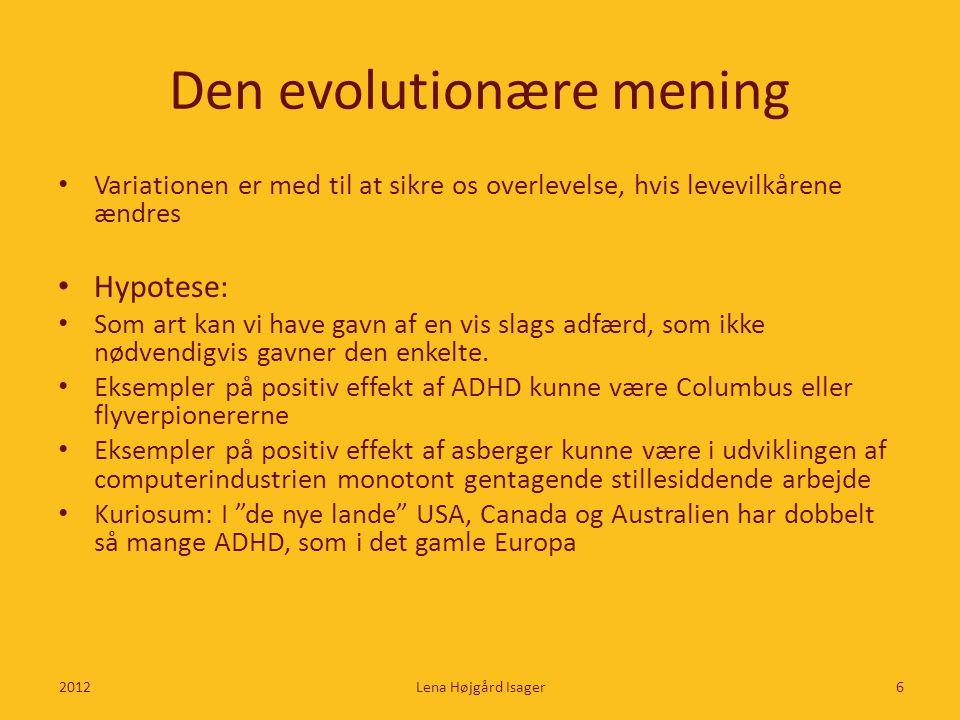 Den evolutionære mening
