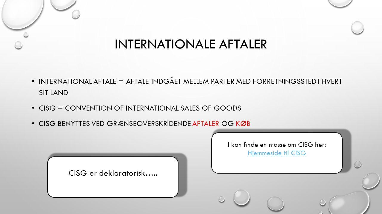 Internationale aftaler