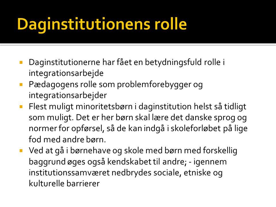 Daginstitutionens rolle