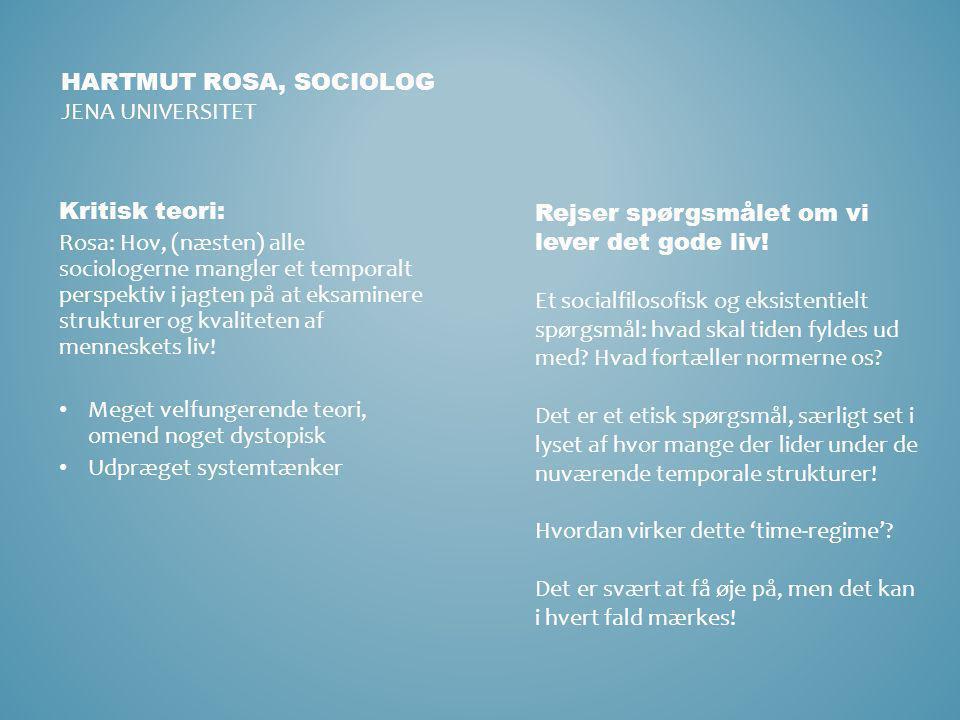 Hartmut rosa, sociolog Jena universitet