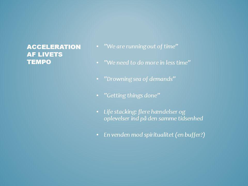Acceleration af livets tempo