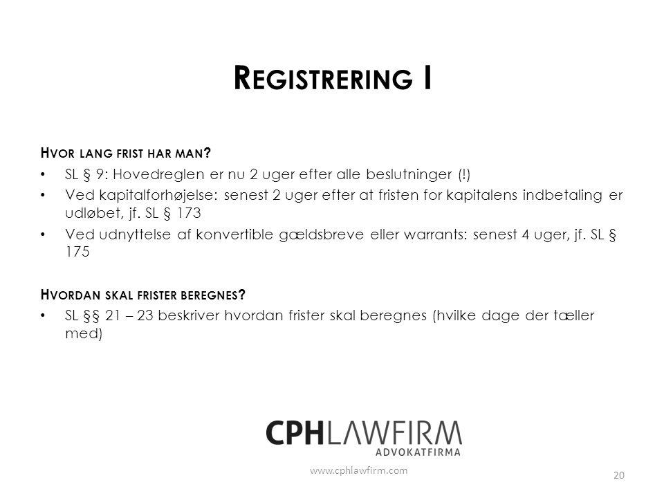 Registrering I Hvor lang frist har man
