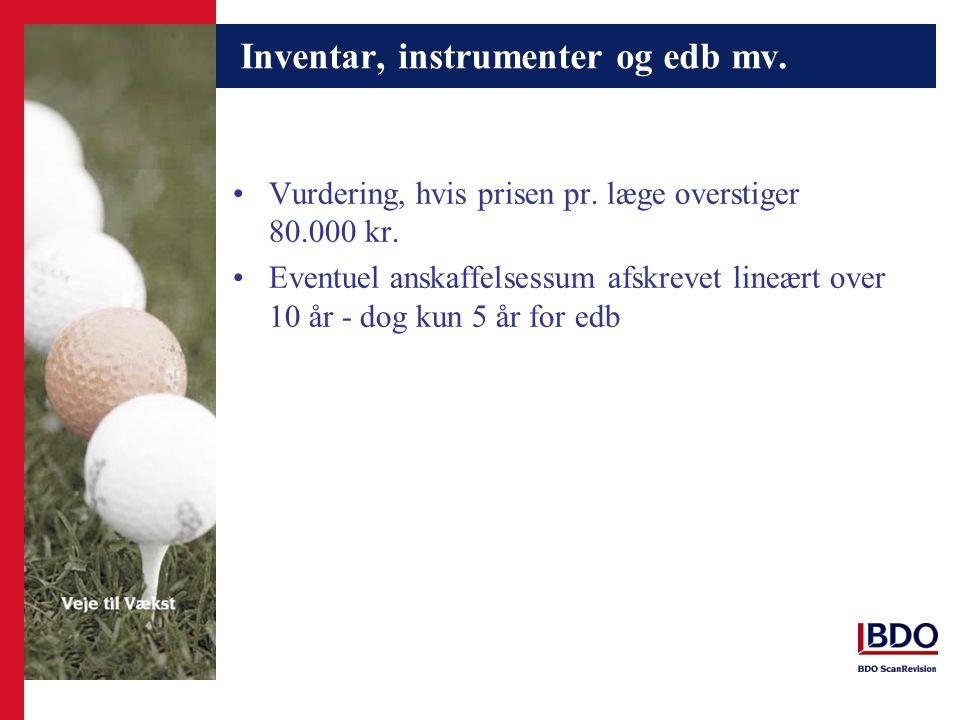 Inventar, instrumenter og edb mv.