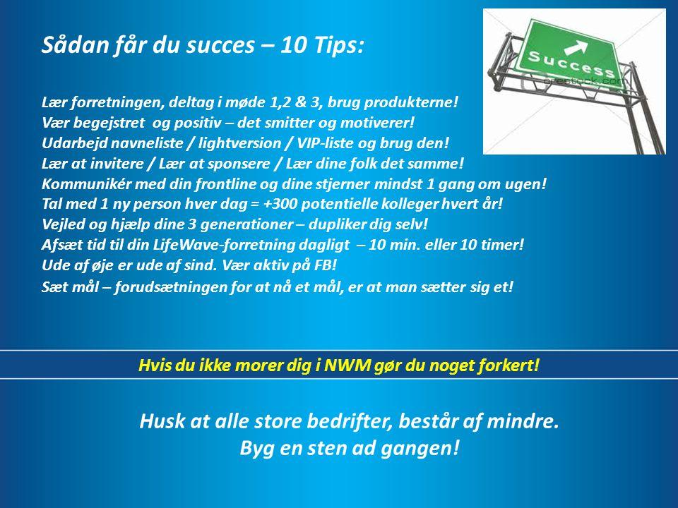 Sådan får du succes – 10 Tips: