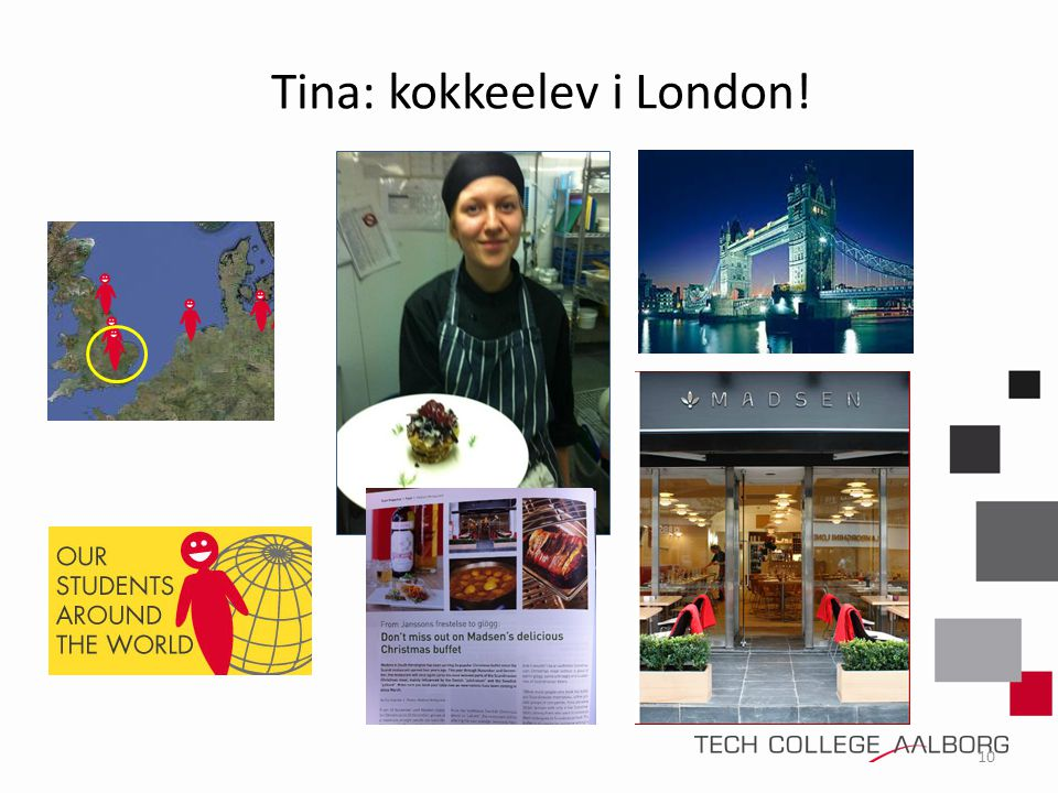Tina: kokkeelev i London!