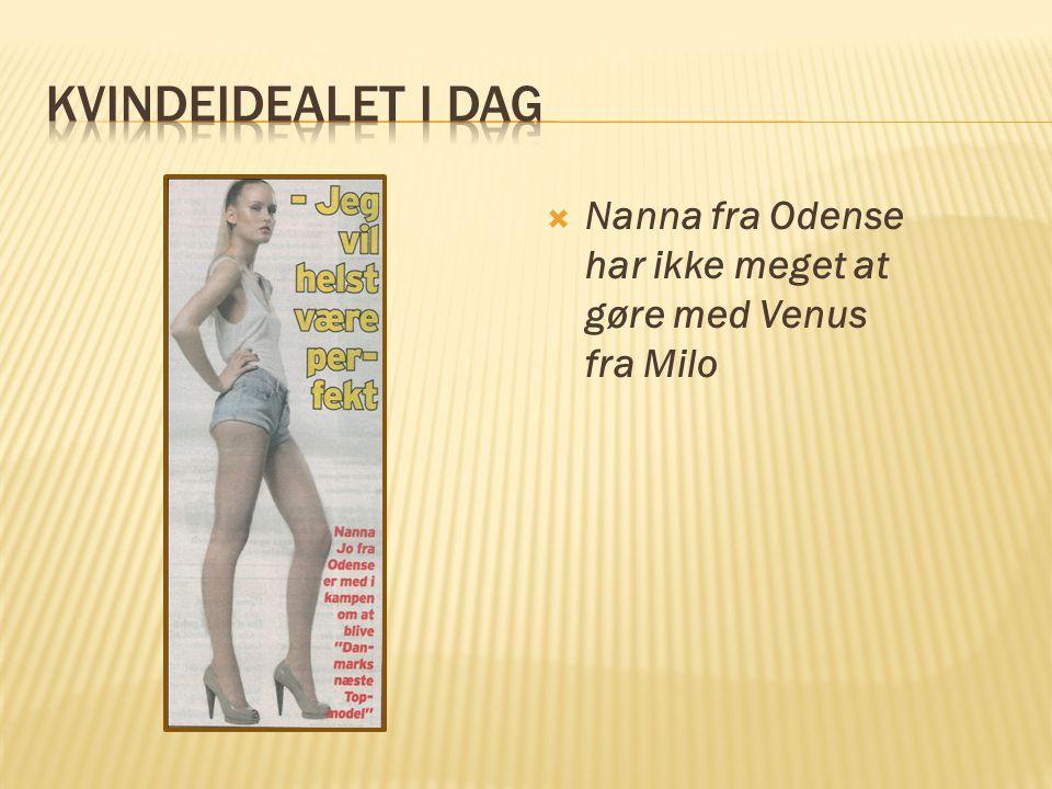 Kvindeidealet i dag Nanna fra Odense har ikke meget at gøre med Venus fra Milo