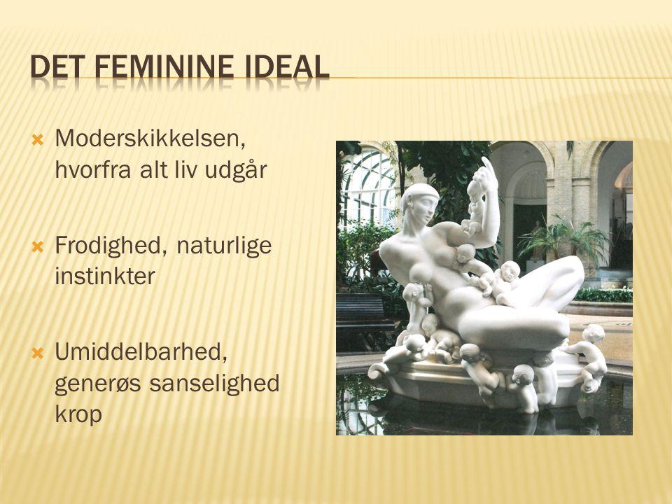 Det feminine ideal Moderskikkelsen, hvorfra alt liv udgår
