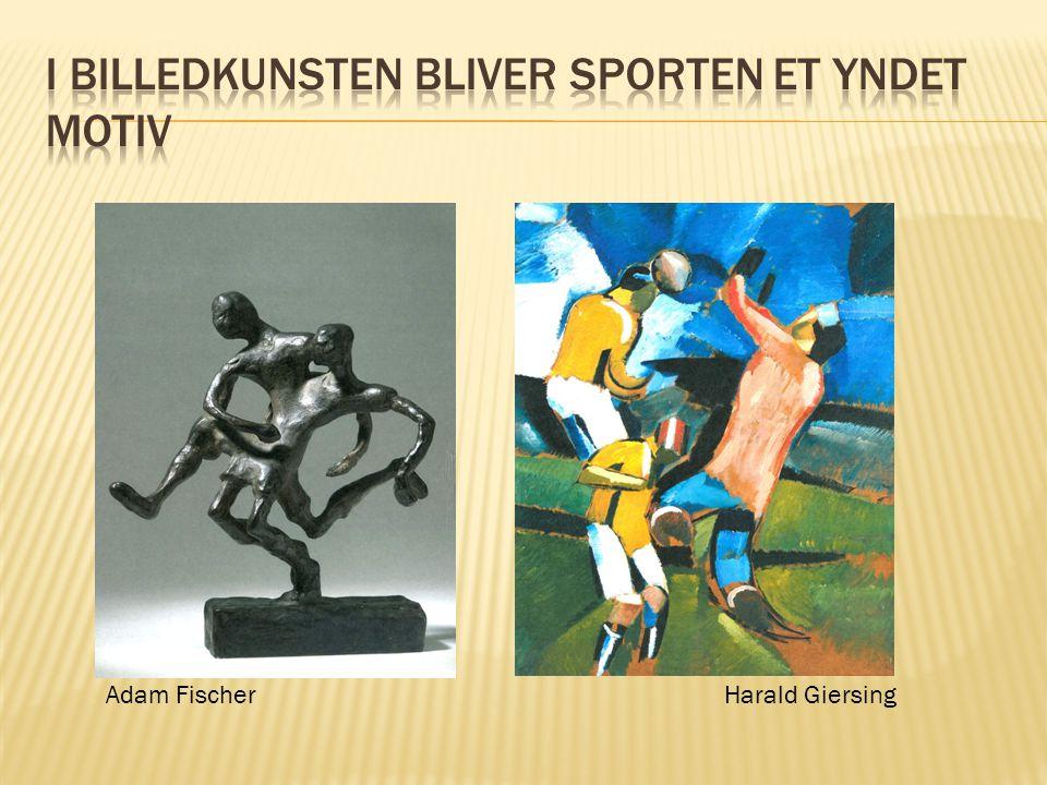 I billedkunsten bliver sporten et yndet motiv