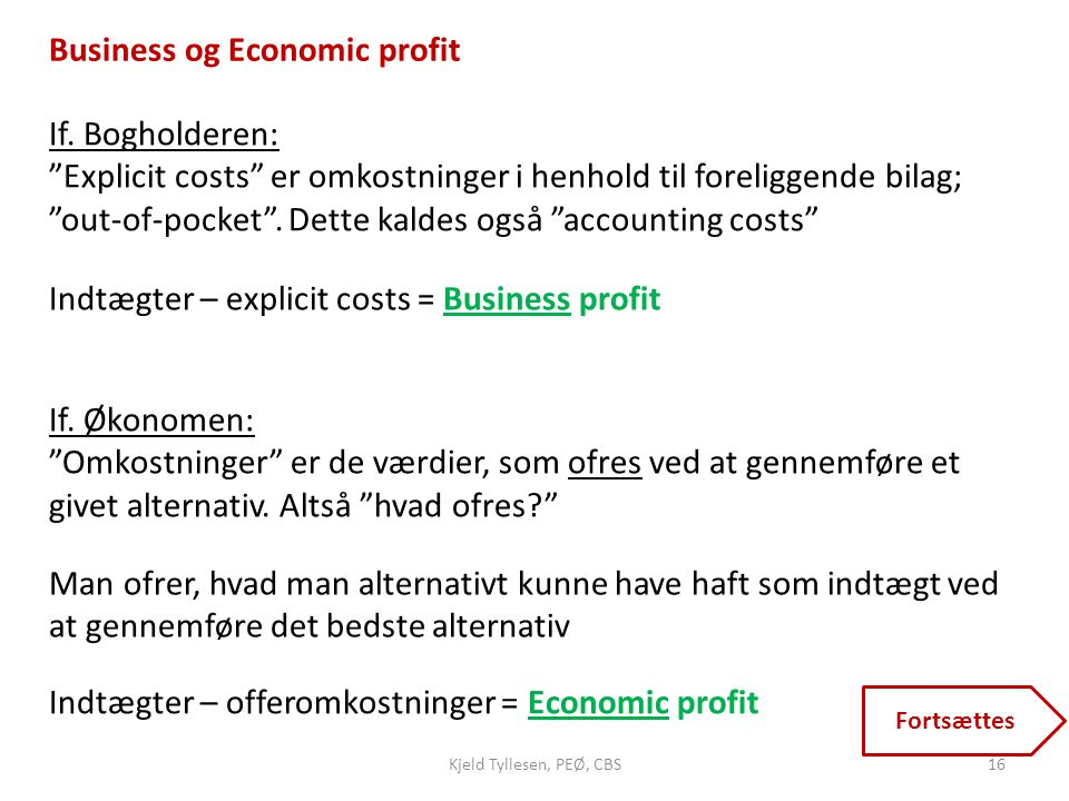 Business og Economic profit