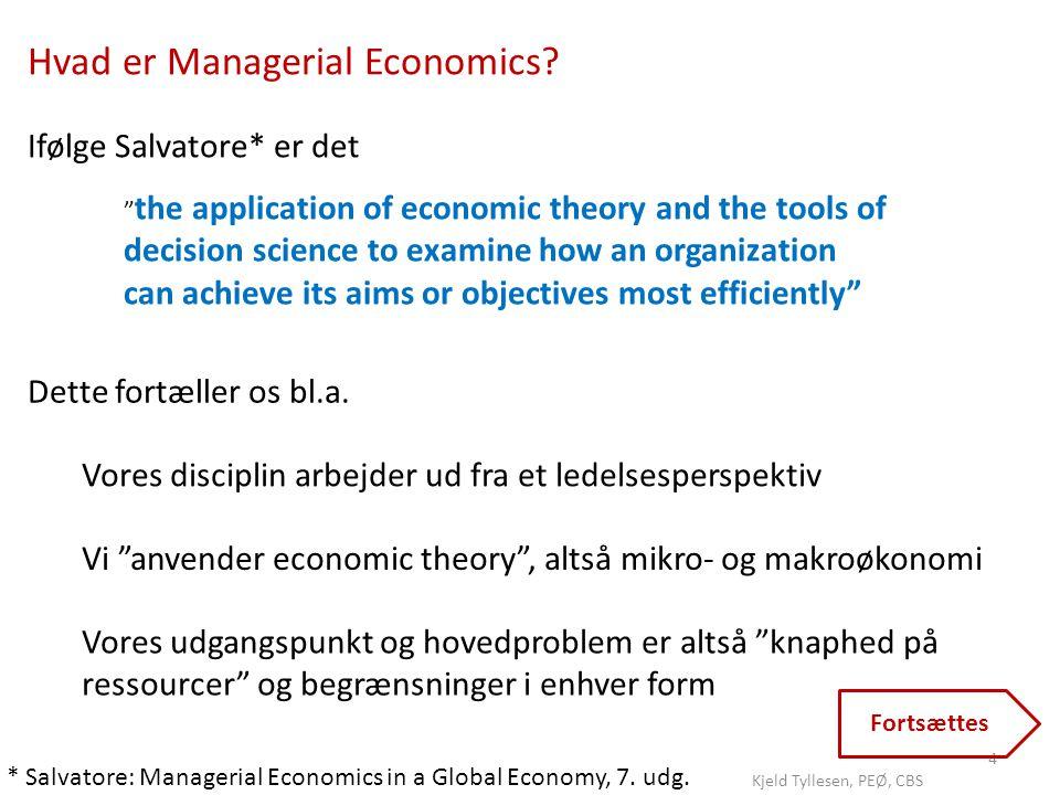 Hvad er Managerial Economics