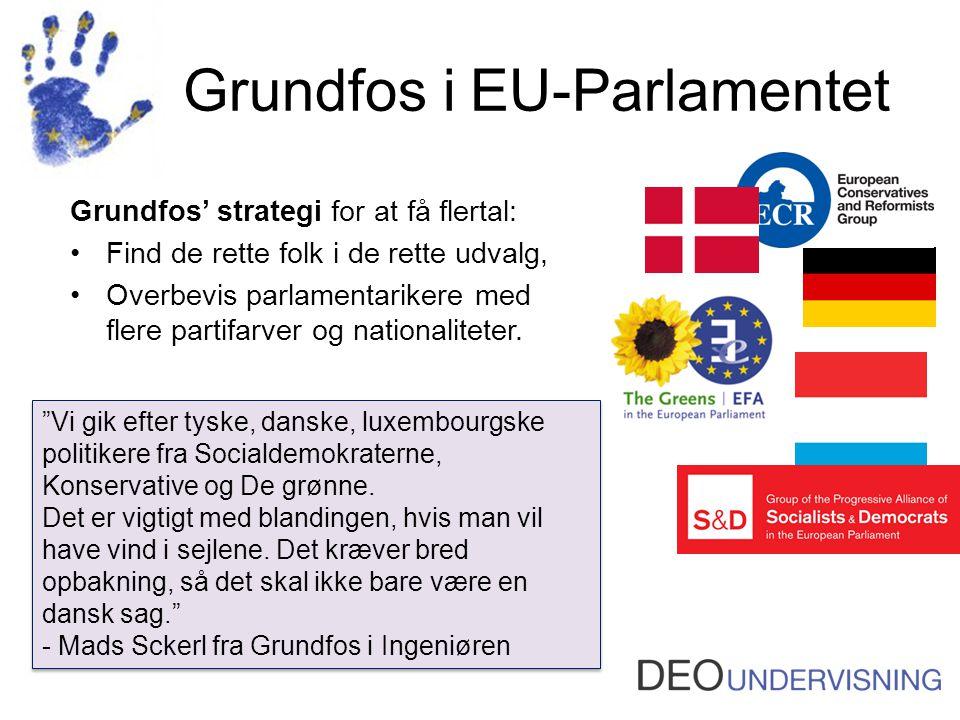 Grundfos i EU-Parlamentet