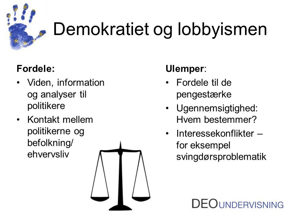 Demokratiet og lobbyismen