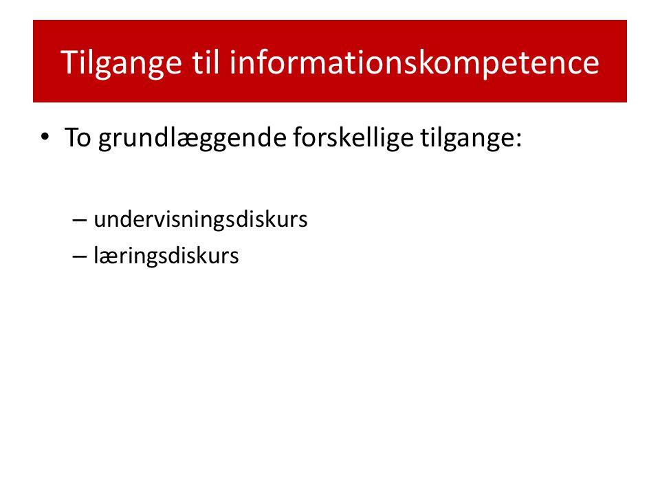 Tilgange til informationskompetence