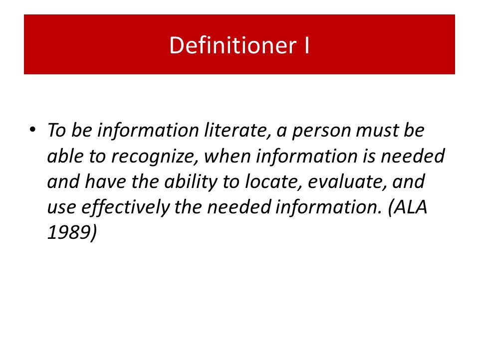 Definitioner I