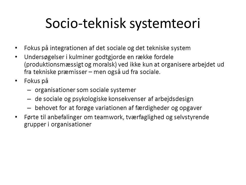 Socio-teknisk systemteori