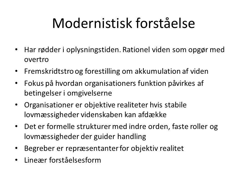 Modernistisk forståelse