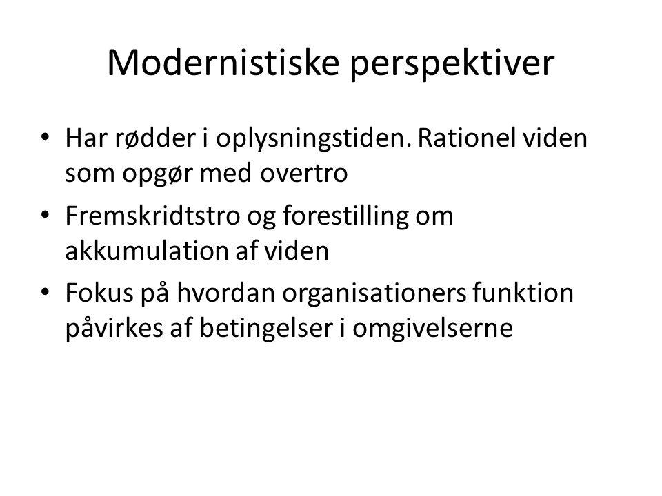 Modernistiske perspektiver