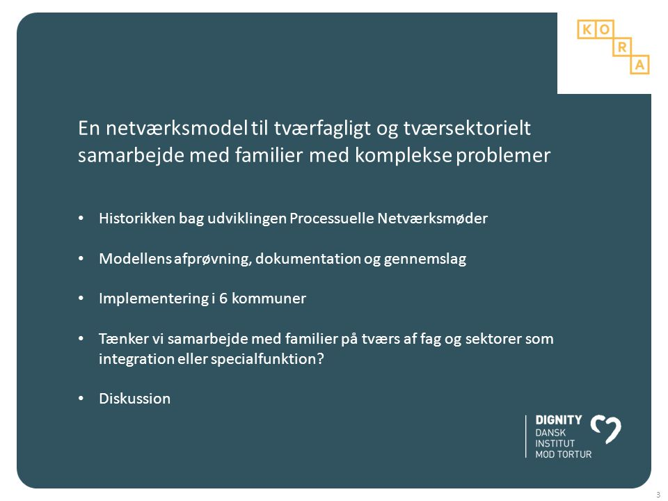 En netværksmodel til tværfagligt og tværsektorielt samarbejde med familier med komplekse problemer