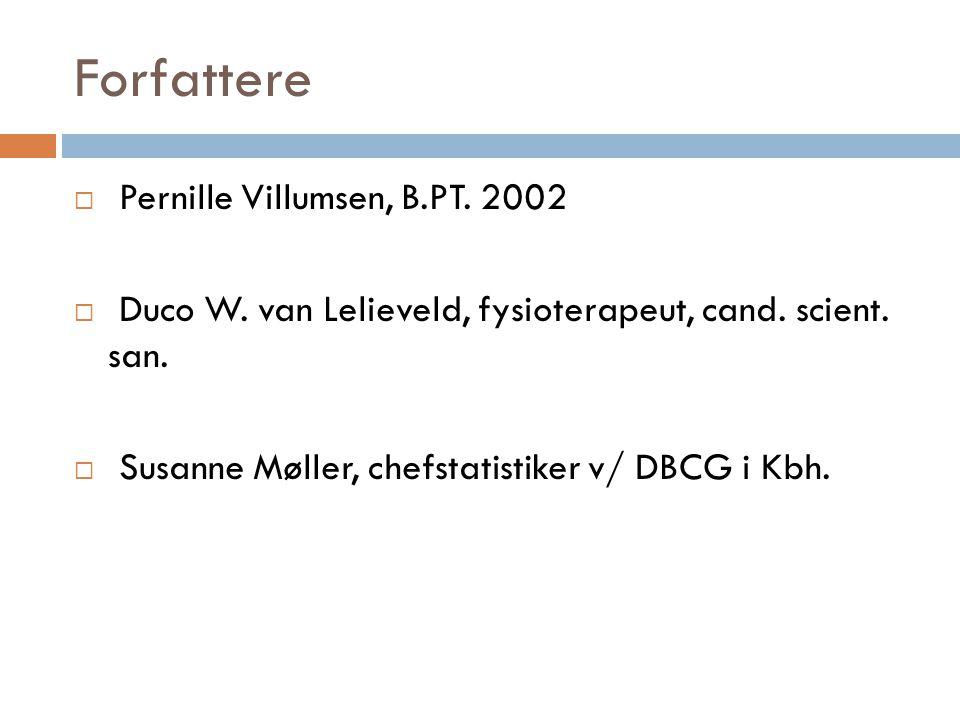 Forfattere Pernille Villumsen, B.PT. 2002