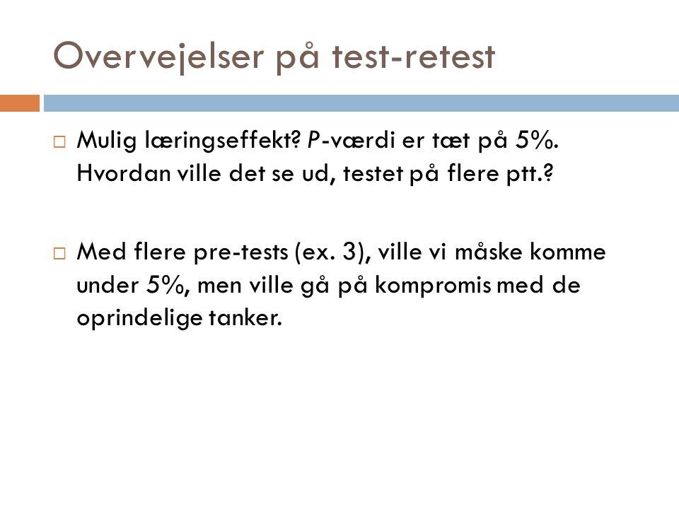 Overvejelser på test-retest