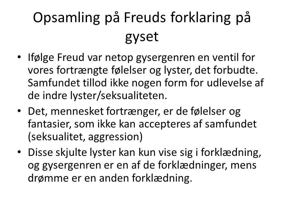 Opsamling på Freuds forklaring på gyset
