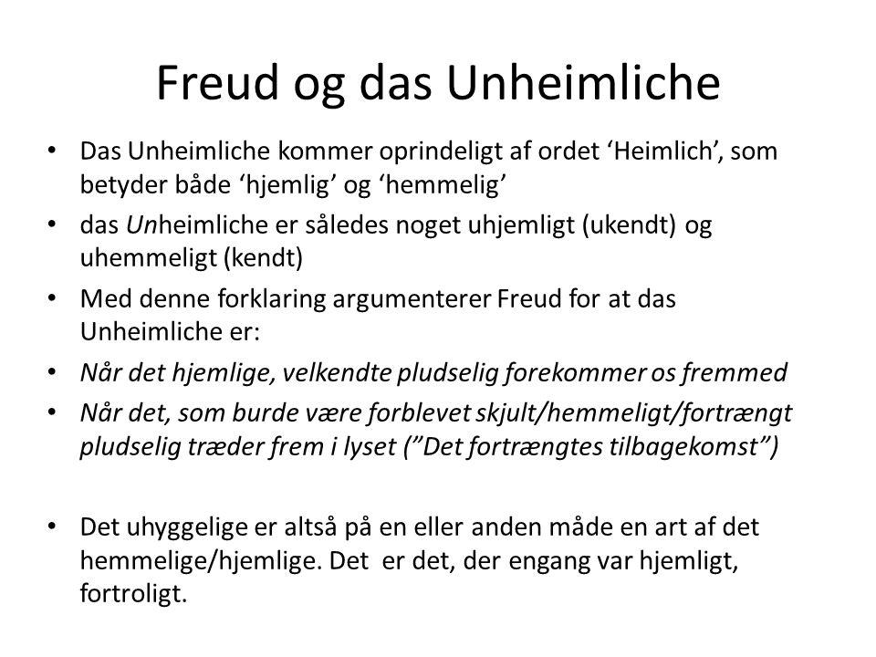 Freud og das Unheimliche
